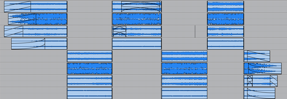 Perspective cutting — checker-boarded tracks in Pro Tools