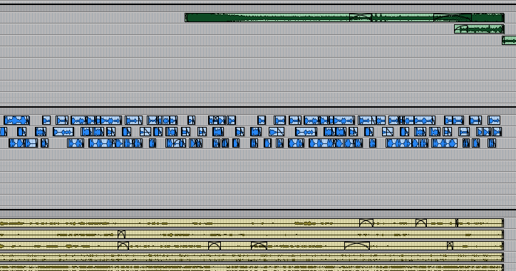 Color-coded tracks in Pro Tools