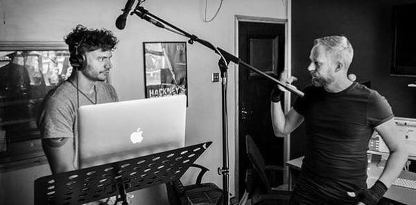 Enos Desjardins studio recording