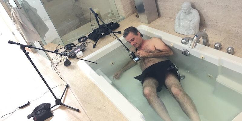 Blade Runner 2049 Mangini recording underwater tub