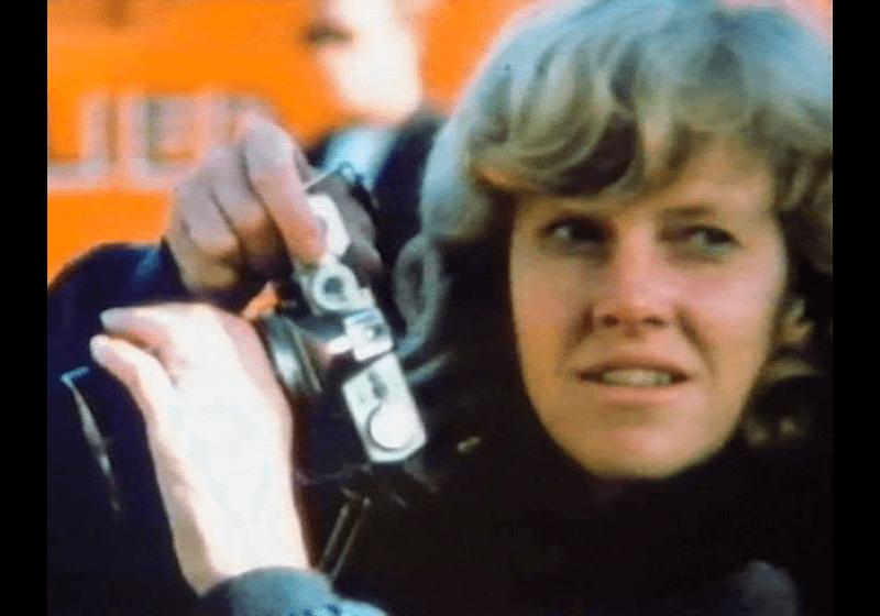 Ann Kroeber on the set of Blue Velvet