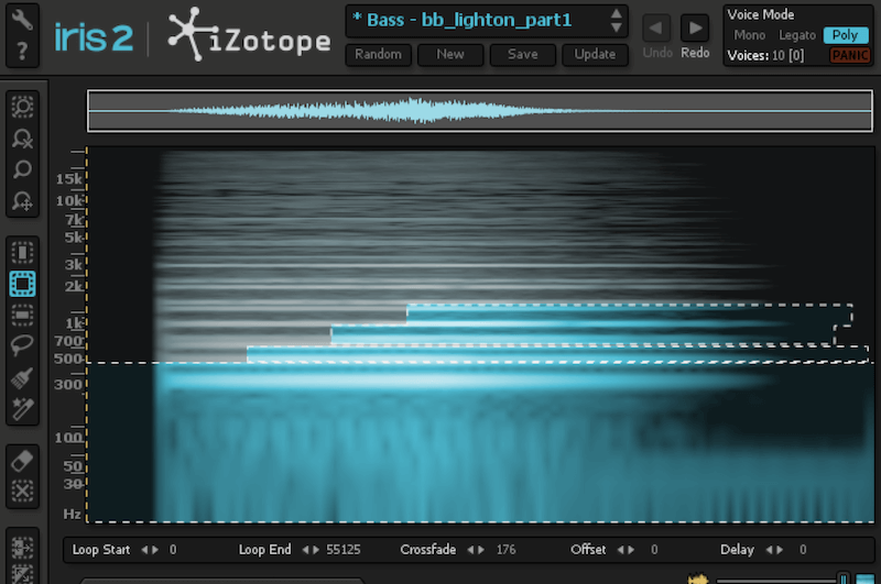 Blackbox sound design - iZotope Iris