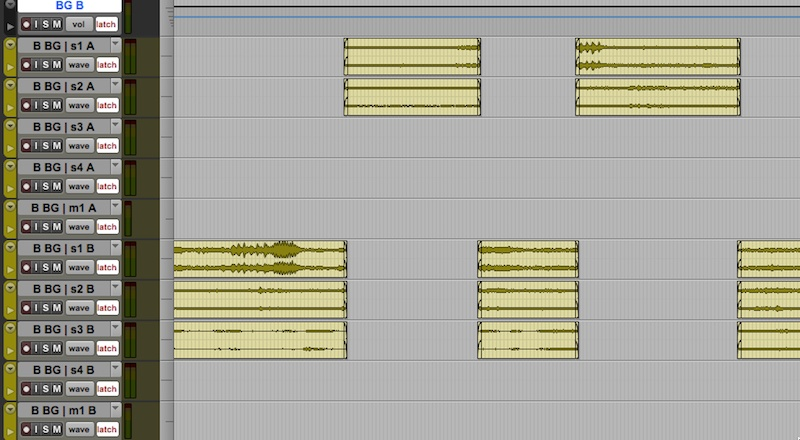 Pro Tools Session Template BG Predub Checkerboarding