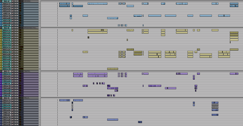 Pro Tools Session Template BG Tracks