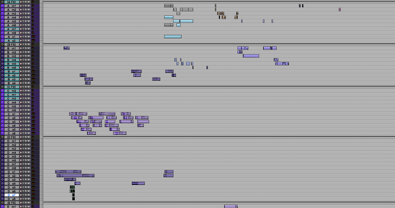 Pro Tools Session Template FX Tracks