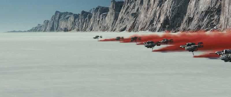 Star Wars: The Last Jedi - Sky Speeders on Crait