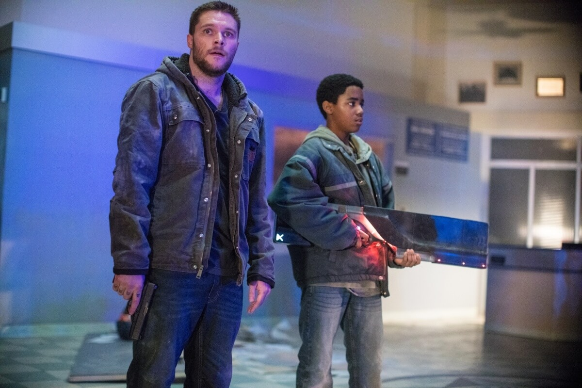 Jimmy (Jack Reynor) and Eli (Myles Truitt) in Kin