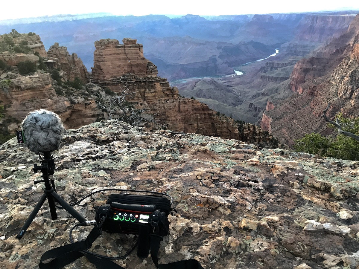 Grand Canyon field recording session