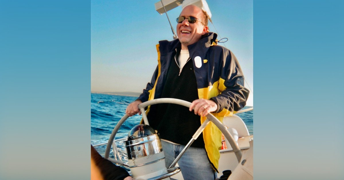 Richard King on his boat