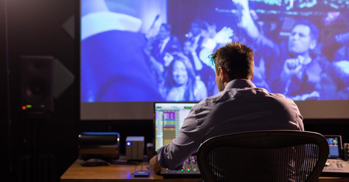 Sound Designer Working In Studio